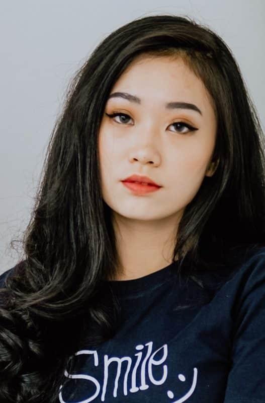 Make-up look op een Aziatisch dame